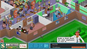 Det kan bli travelt i Theme Hospital.