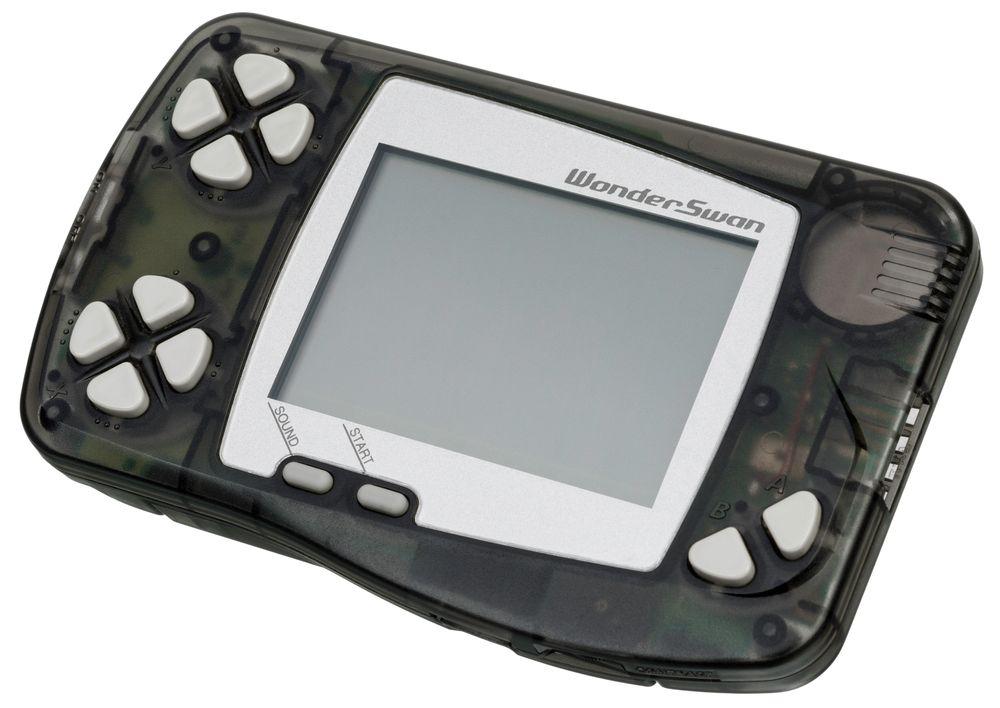 Den første WonderSwan-konsollen hadde et distinkt utseende.