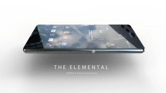 Xperia Z4 slik Sony tilsynelatende presenterer den i reklamemateriell.