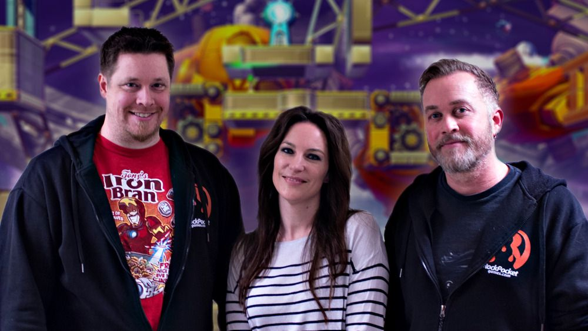 Henning Ludvigsen, Natascha Röösli og Ivan Moen i Rock Pocket Games.