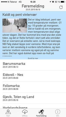 Hvordan er føret? iMarka gir deg svaret i Stor-Oslo.