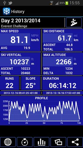 Ski Tracks er en av flere apper som kan hjelpe deg med å holde styr på alle turene du tar i skibakken.