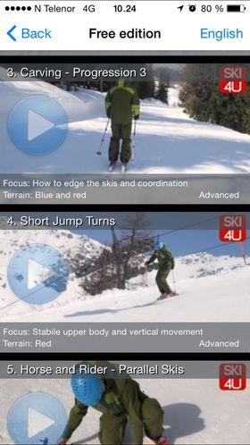 Ski Lessons 4U er også en skiskole i mobil-format.