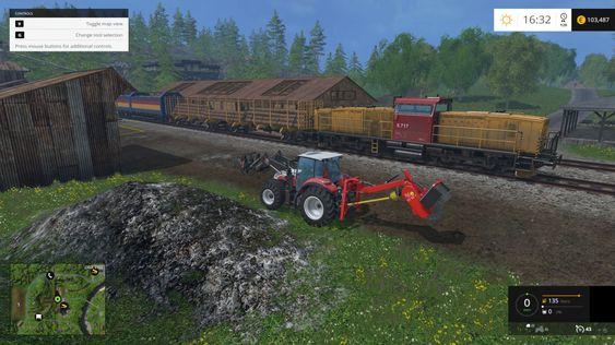 NSB trekker godstogene i Farming Simulator 15.