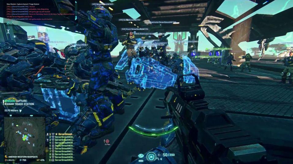 Det ble totalt kaos da nesten 1200 PlanetSide 2-spillere troppet opp.