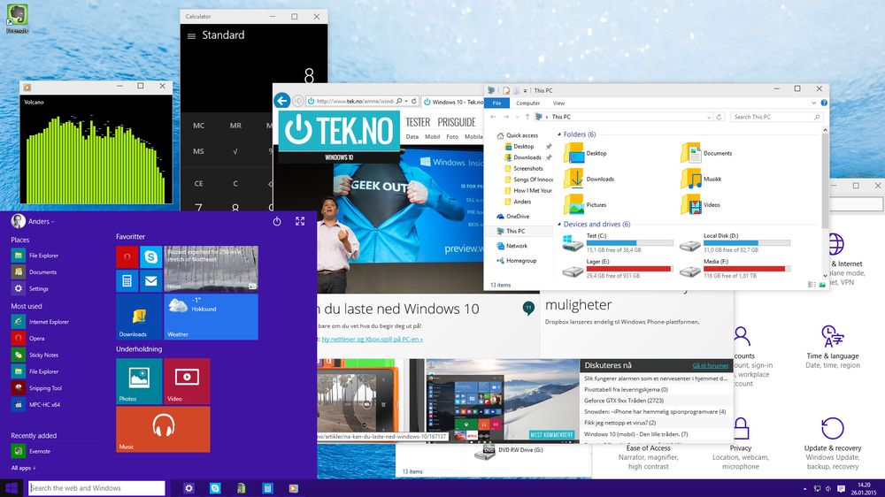 SNIKTITT: Windows 10 Technical Preview Vi liker Windows 10 allerede