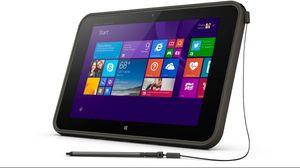 BESKYTTET: HP Pro Tablet 10 EE med god beskyttelse mot røff behandling på skolen - og her utstyrt med penn.
