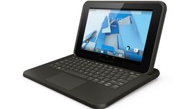 ANDROID: HP Pro Slate 10 EE, Android-brett som her vises med solid tastatur.