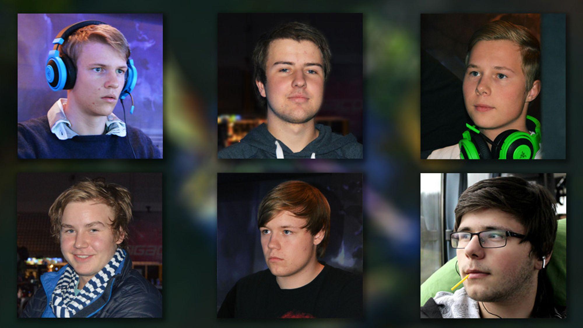 «Tivity», «Slemp», «Alex», «Xiphious», «Tom» og «Zagan» spiller for seks av åtte lag på øverste nivå av Gamer.no League of Legends Series.