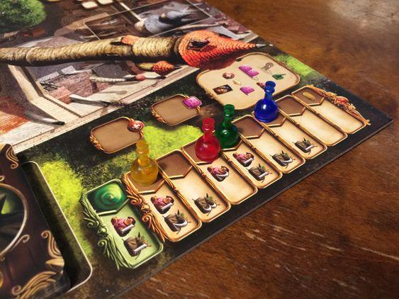 Spillerrekkefølgen avgjøres på denne tabellen. Du kan ofre en god plassering for å sikre deg gunst fra landsbyboerne eller ekstra ingredienser.