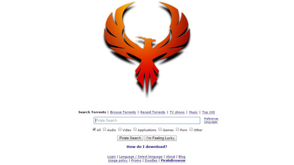 Slik ser forsiden til nye The Pirate Bay ut.