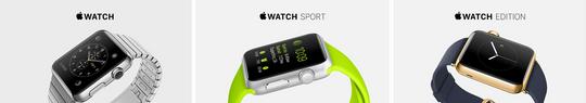 Apple Watch kommer i tre ulike grunnmodeller.