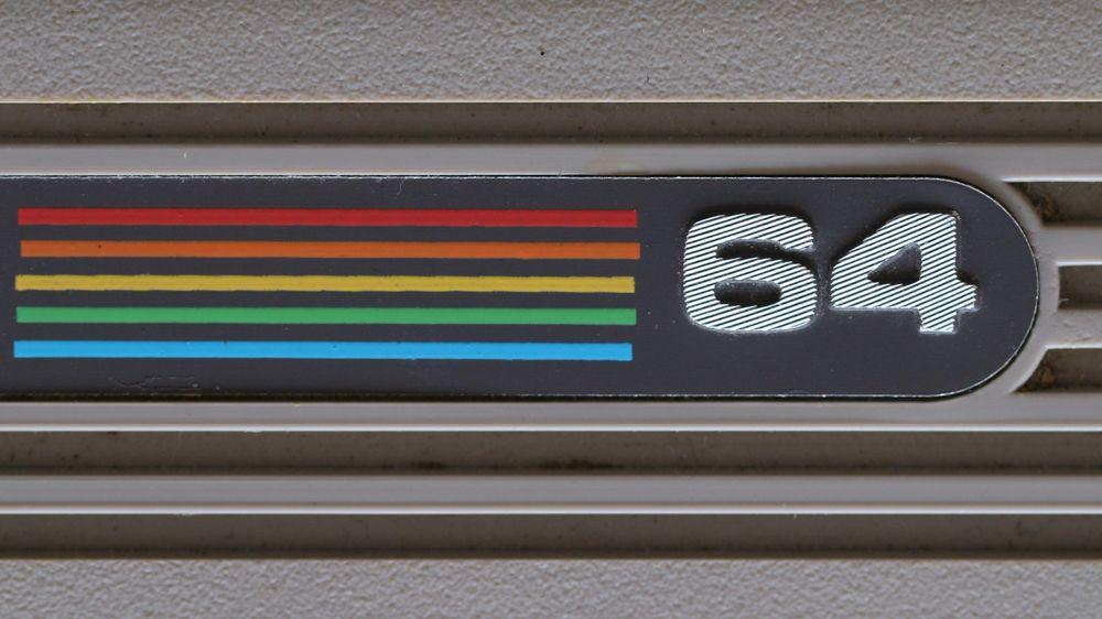 Commodore 64s velkjente logo spilte på at det var en fargefør datamaskin.