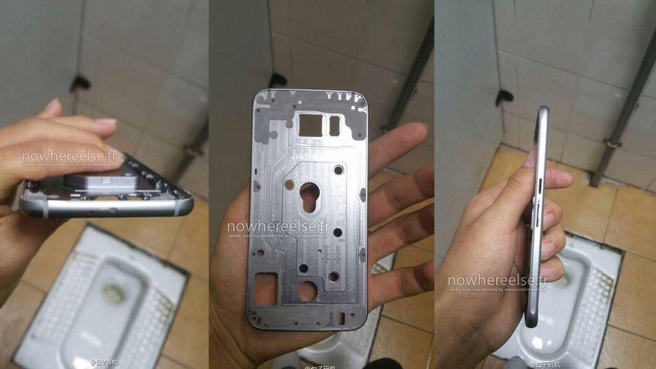 Viser dette en kommende modell fra Samsung? GSMArena mener iallefall at det er rammen til Galaxy S6.