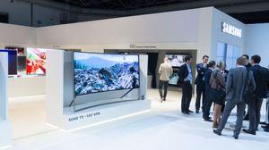 Samsungs nye gigant skiller seg ut på messegulvet.