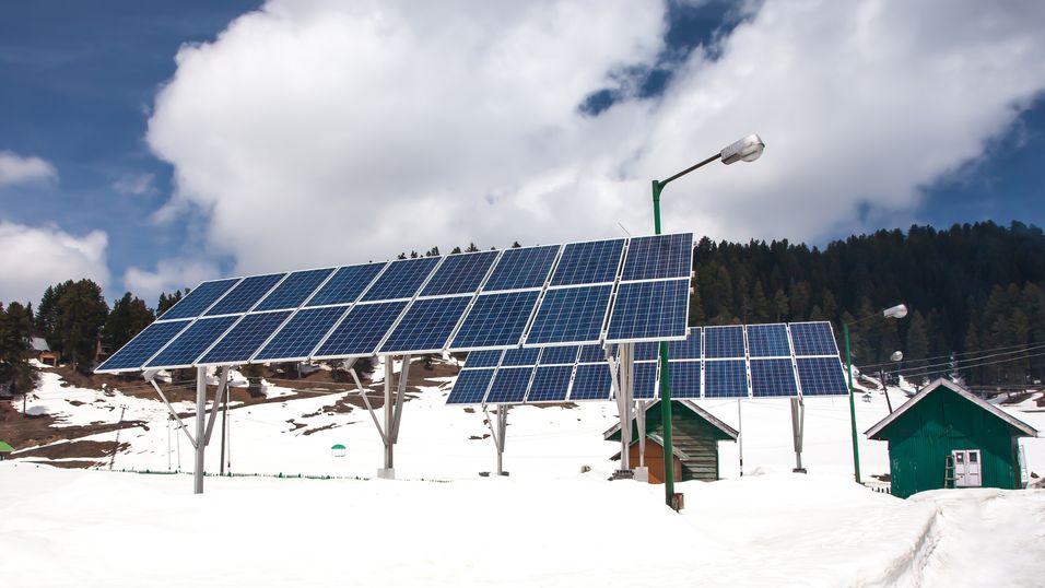 – Solceller virker best ved lave temperaturer