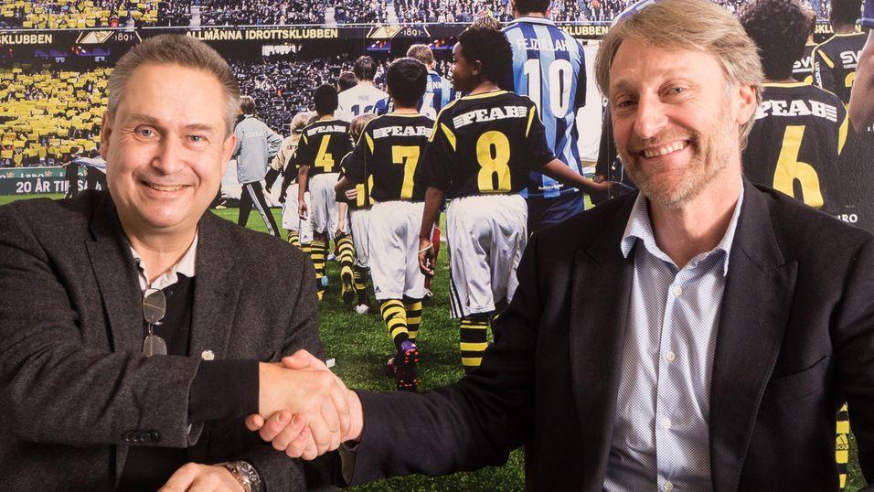 Mads Enquist og Torbjørn Ødegård Teigen signerte den tiårigt avtalen som er verdt 100 millioner kroner.