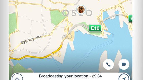 GPS-sporing er også inkludert i par-appen Couple.
