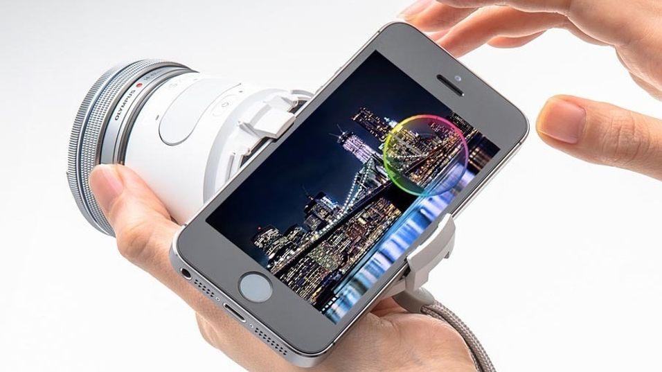 Olympus med objektiv-kamera for mobil