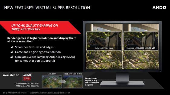 AMD Virtual Super Resolution ble lansert i desember, og er inkludert i nyeste driver.