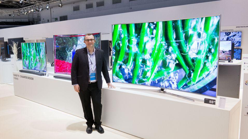 Samsung konsoliderer posisjonen sin som verdenslederen på TV-markedet. Dette er en av selskapets nye 4K-TV-er