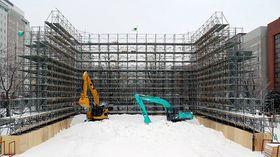 Bilde nr. 1. Helt i starten av byggeprosessen.