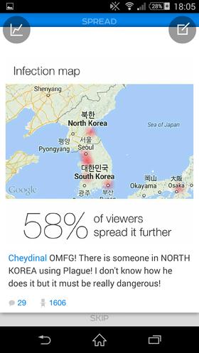 Hvordan han greide det er uvisst, men denne brukeren mente altså at det selv i Nord-Korea var noen som brukte Plague.