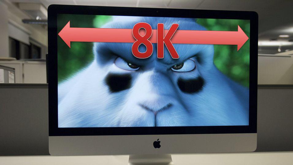 Dagens iMac bruker en modifisert versjon av eDP for å gi det Apple kaller «5K»-oppløsning. Kanskje 8K blir det neste?