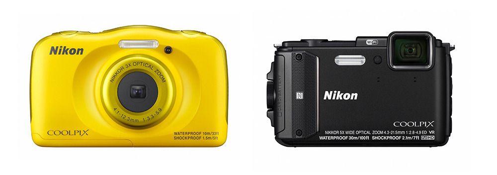 S33 og AW130 (kameraene er korrekt skalert i forhold til hverandre.