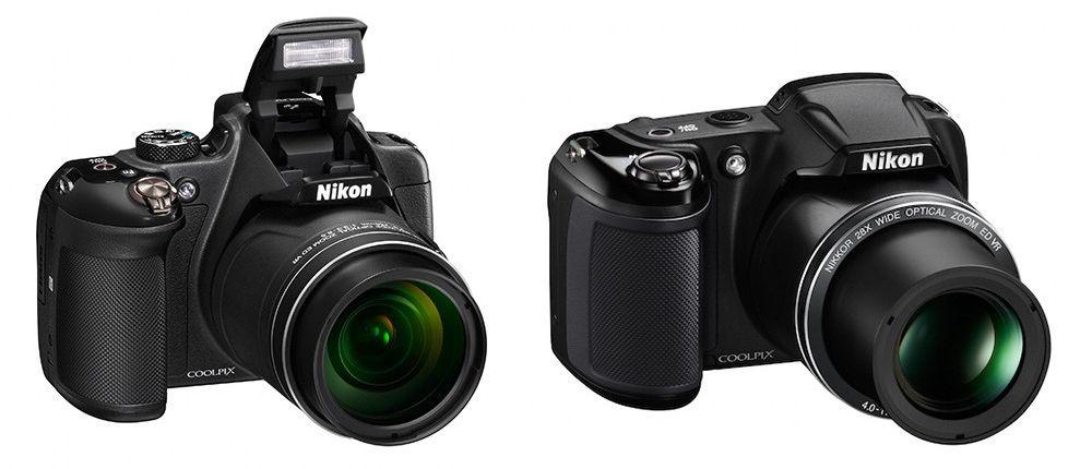 P610 og L340 (kameraene er korrekt skalert i forhold til hverandre.
