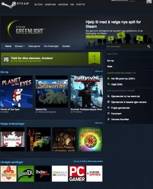 – Greenlight-brukerne skal være i fokus, sier Valve.