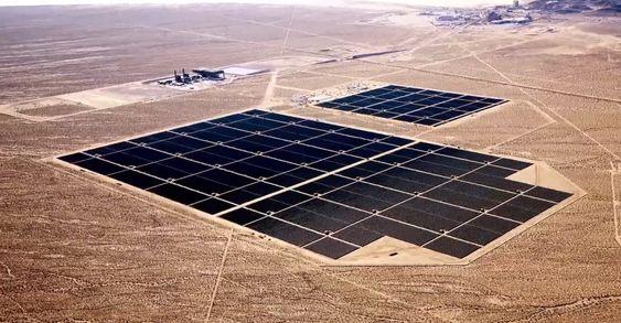 Et av de eksisterende anleggene til Apples samarbeidspartner, First Solar.