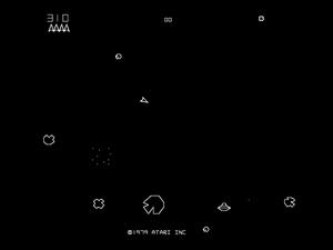Det originale Asteroids fra 1979.