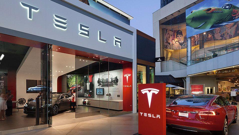 Tesla-forhandler i USA.