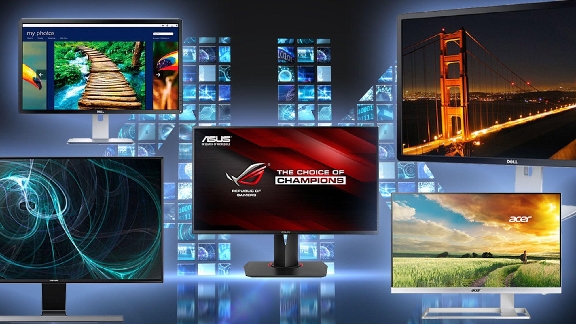 Høyoppløste skjermer finnes i hopetall og for enhver smak.