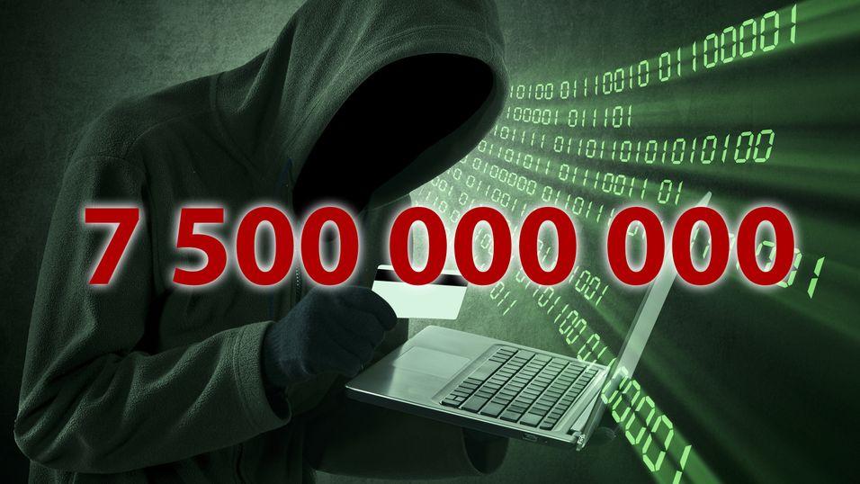 Hackerne har kommet seg unne med over 7,5 milliarder kroner