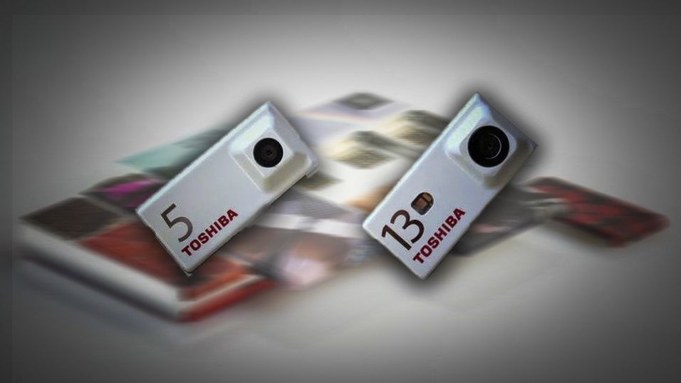 Montasje: Toshibas kameramoduler til Googles Project Ara.