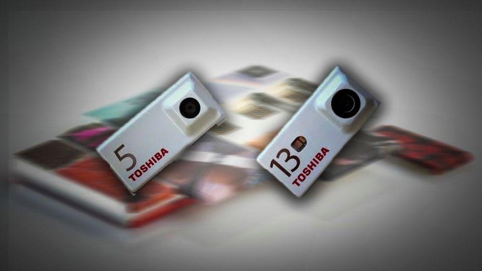 Montasje: Toshibas kameramoduler til Googles Project Ara.