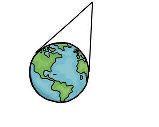 En kjegleprojeksjon har større kontaktflate, men avstanden kan være lang fra jorda til tuppen av kjeglen.