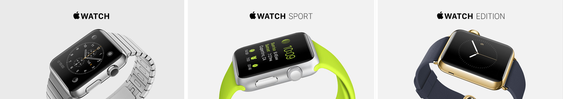 Apple Watch kommer i tre ulike modeller.