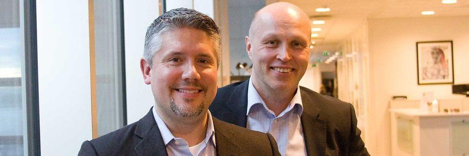 Lederen for Amazon Web Services i Norden og Baltikum, Darren Mowly og Nordcloud-sjef Esa Kinnunen får norsk representasjon når Nordcloud nå etablerer seg i Norge.