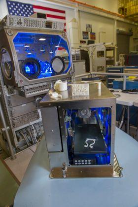 Dette er 3D-skriveren som er installert på romstasjonen ISS.