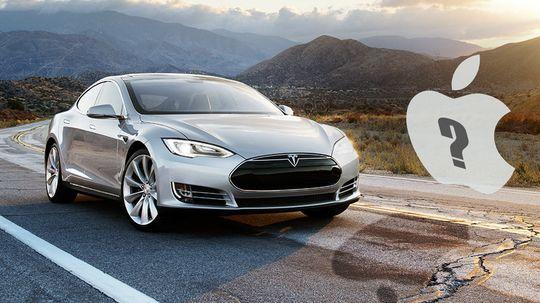 Flere tror Apple vil la seg inspirere av Tesla Motors.