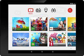 Slik ser YouTube Kids-grensesnittet ut.