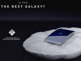 Samsung viser også frem «rykter» om hvordan telefonen vil bli på sine egne nettsider.