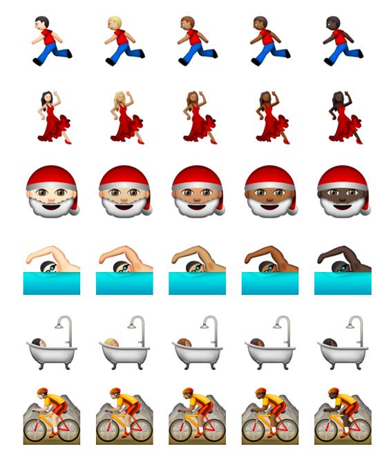 Flere av ikonene kommer heretter i fem fargenyanser.