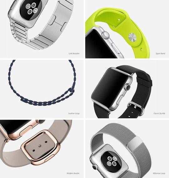Apple har designet et stort antall klokkeremmer til Apple Watch.