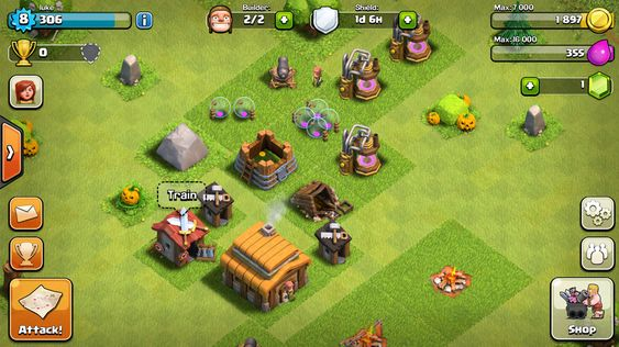 Clash of Clans er et strategispill du kan spille med andre.