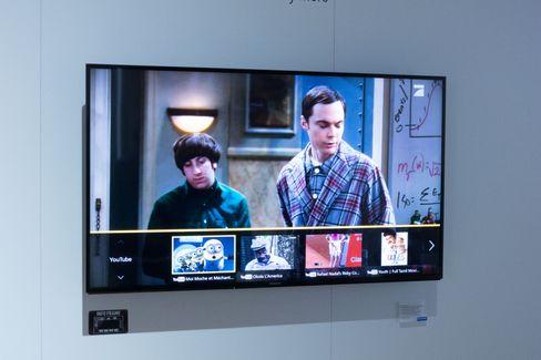 Via en hurtigmeny finner TV-en frem innhold den tror passer deg.