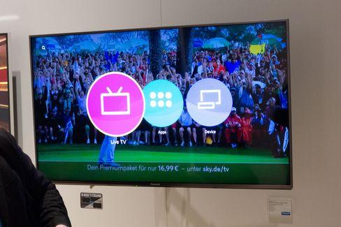 Slik ser Firefox OS ut når du nettopp har du starter TV-en for første gang.